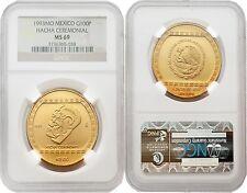 Mexico 1993 Hacha Cermonial 100 Nuevo Pesos 1 oz Gold NGC MS69