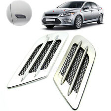Car Side Air Flow Fender Vent Hole Cover Intake Grille Duct Decoration Sticker S
