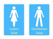 Inodoro signos Sticker Decal Gráfico Señoras Señores Etiquetas V3