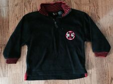 Medium Weight Fleece Pullover Boys Jacket Size 4-5, Black with red trim