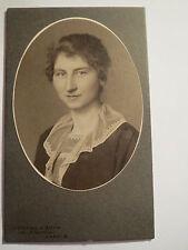 Danzig - 1917 - Elisabeth Poelmann als junge Frau - Portrait / CDV