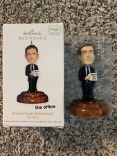 "Hallmark 2011 The Office Michael Scott Bobblehead Magic Ornament ""Talking"""