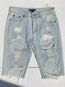 Forever 21 Distressed Bermuda Shorts  small