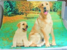 New Soft Labrador Retriever Fleece Throw Gift Blanket Puppy Dog Yellow Lab Lover