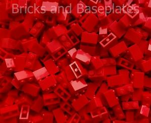 LEGO BRICKS 100 x RED 2x1 Pin  From Brand New Sets Sent In a Sealed Bag