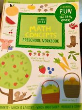 Preschool/Kindergarten-MATH NUMBERS FUN-activity learning home school workbook