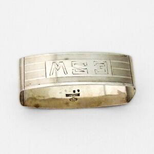 Alvin Milled Napkin Ring Sterling Silver 1930 Mono