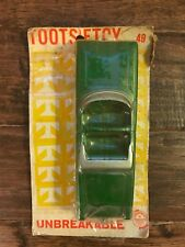 """Vintage """"TOOTSIETOY"""" Green Convertible """"OLDSMOBILE"""" Die-Cast Car, On Card! RARE!"""