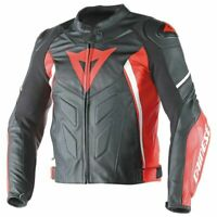 DAINESE AVRO LEATHER JACKET MOTORBIKE / MOTORCYCLE BLACK / RED - Replica
