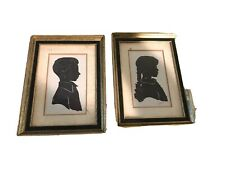 Vintage Framed Silhouette Pictures Hand Cut Boy Girl Children