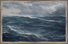 Sturm in der Nordsee 1908 Marine Malerei Schnars Alquist Maritim A1 006