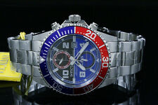 NEW Invicta Pro Diver Swiss ISA Movement ChronoBlue/Gray Dial S.S Bracelet Watch