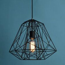 Black Wire Cage Ceiling Pendant Light Industrial Modern Lamp Restaurant Lounge