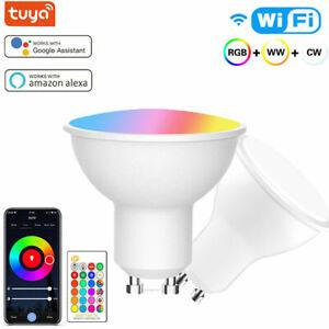 9W Tuya Smart Wifi GU10 LED RGB Bulb Spotlight Lamp Light for Alexa google