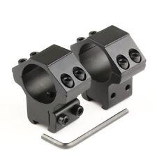 2pcs Medium Profile Dovetail 11mm Scope Mount Rail Rings 1'' Inch 25.4mm