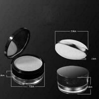 15g Empty Cosmetic Sifter Loose Powder Jar Container Box Travel Makeup Puff W4W7