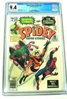 Spidey Super Stories #22 CGC 9.4 (Marvel 1977) 1st MS Marvel, RARE