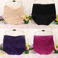 Women's Panties Lace Cotton blend High Waist Knickers Underwear Briefs Shapewear