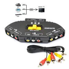 AV Audio Video Signal Switcher 3 IN 1 Output TV switch Splitter for DVD VCR PS2