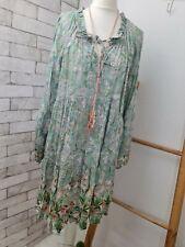 NEU Kleid Tunika ITALY duftig BUNT grün-beige-rosa 36 38 40 onesize