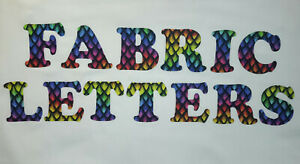 """3"""",4"""",5"""" & 6"""" Iron on Fabric Letters & Numbers,100% Cotton,Cooper Font, Applique"""