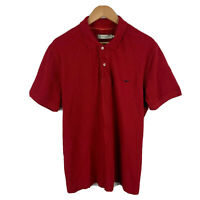 RM Williams Mens Polo Shirt Size 2XL Red Short Sleeve Button Closure Collar