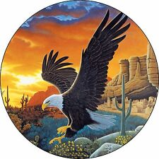 Eagle #9 desert sunset Spare Tire Cover Jeep Rv Camper etc(all sizes avail)