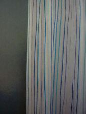 "Home Blue Stripe Blue & White 100% Peva Shower Curtain 72"" x 72"" NIP"