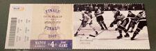 2007 MONTREAL CANADIENS BERT OLMSTEAD Full Playoffs Season Ticket stub photo