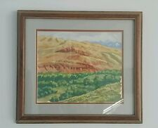 Watercolor of L&B Ranch, River Bottoms Dubois Wyoming by Keimig
