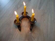 WWII Trench Art Candlestick vintage brass original decor art cast iron copper