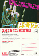 DANCE PERFORMANCE BY NEIL GREENBERG UNUSED ADVERTISING COLOUR POSTCARD