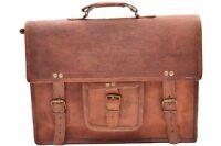 Genuine Leather Office Shoulder Messenger Laptop Bag Mens Office Bags