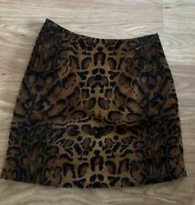 Shrimps Size 8 Skirt Leopart Print Velvet Mini Perfect Condition Net A Porter