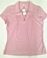Women's Light Dusty Pink Golf Shirt- Medium