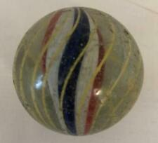 """Antique Large 1 5/8"""" 4 color solid core Caged Swirl German Handmade Marble"""