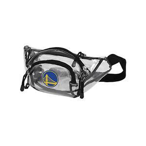 "Golden State Warriors Basketball Transport Clear Belt Bag 13"" x 5"" x 5"" Licensed"