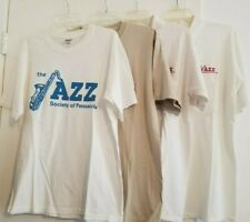 Lot of 4 The Jazz Society of Pensacola Shirts in Men's M/L (Read Description)