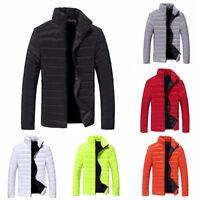 US Mens Warm Stand Collar Down Winter Slim Coat Parka Jacket Outwear Coat Zipper