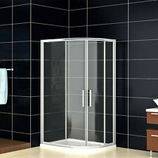 900x800mm Quadrant Shower Enclosure and Stone Tray Corner Cubicle Door Right