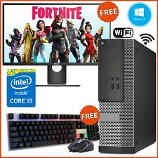 GAMING PC FAST DELL HP BUNDLE SCREEN WiFi COMPUTER INTEL i5 8GB 500GB HDD