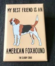Amercian Foxhound Magnet Handmade Puppy Dog Gifts Refrigerator and Locker Decor