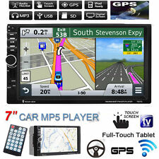 "HD 7"" 2 Din GPS Navi Coche Radio Reproductor MP3 MP5 Pantalla Táctil Bluetooth USB/TF/FM/TV"