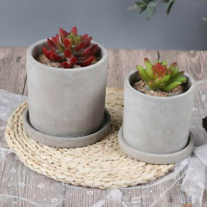 Nicole Concrete Plate Flower Pot Silicone Mold Round Handmade Cement Tray Mould