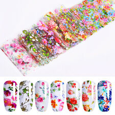 10Pcs/Set Nail Foils Mixed Flower Stickers Nail Art Transfer Decals Decoration