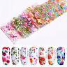 10Pcs/Set Nail Foils Colorful Flower Butterfly Stickers Nail Art Decoration