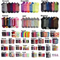Men Women Crew Ankle Everyday Socks Lot Multi Pattern Fashion Casual 9-11 Unisex