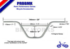 ProBMX Retro BMX Cruiser Ch-Mo Handlebars Old School Style White