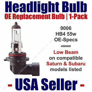 Headlight Bulb Low Beam OE Replacement Fits Listed Saturn & Subaru Models - 9006