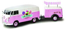 """Volkswagen T2 Van """"ice Cream Set"""" Motormax 1 24 Mx79672ic"""